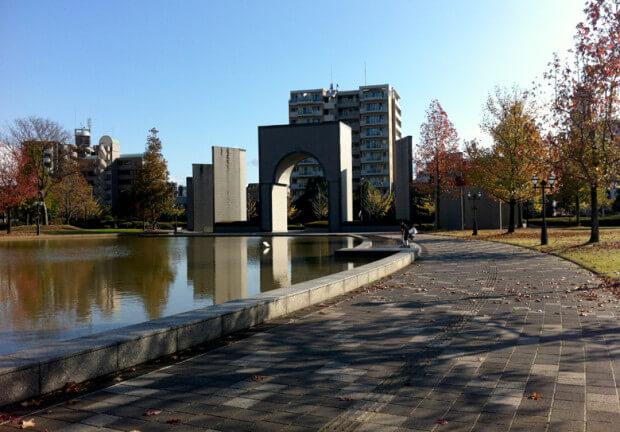 福岡市博物館 池