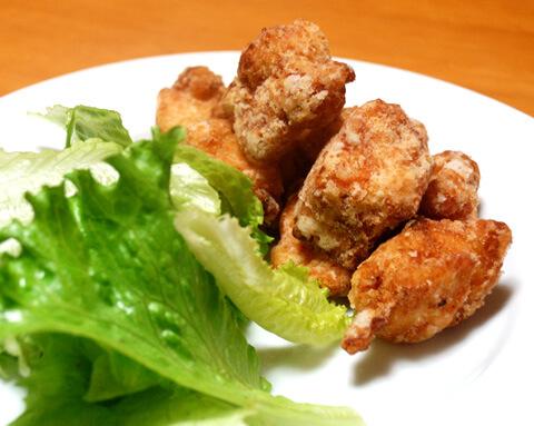 にんにくチップと浅漬けの素で、鶏の塩から揚げ