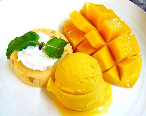 無農薬 宮崎産完熟マンゴー アイスデザート