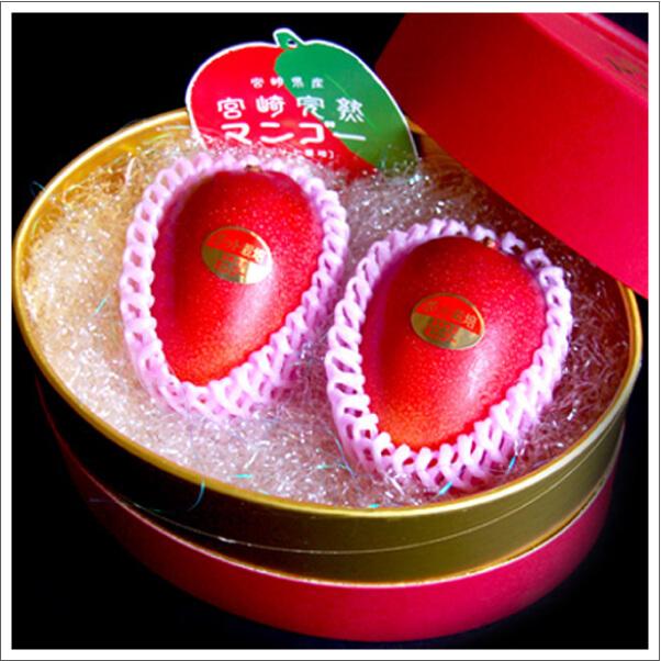 宮崎完熟マンゴー 2玉2L 化粧箱