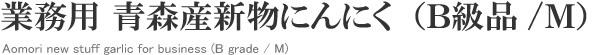 業務用 青森産新物にんにく B級品 (無選別 /M)