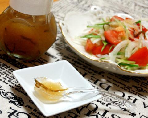酢ニンニクで、梨のガーリックドレッシング 2