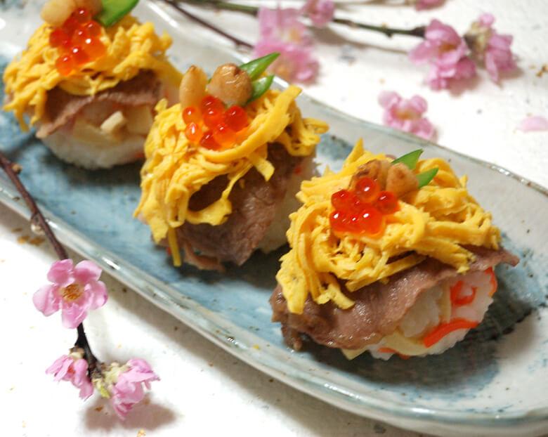 思い出のひな祭り料理 お寿司