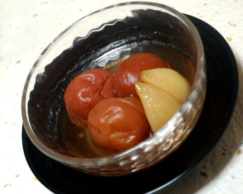 梅干の甘露煮
