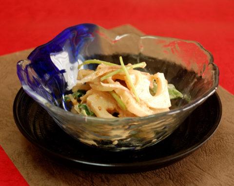 レンコンのシャキシャキ梅干サラダ