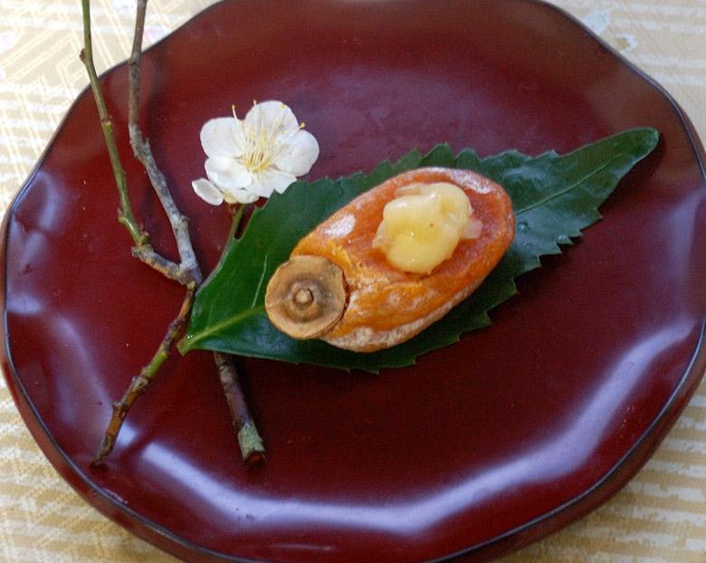 干し柿の梅チーズにんにく