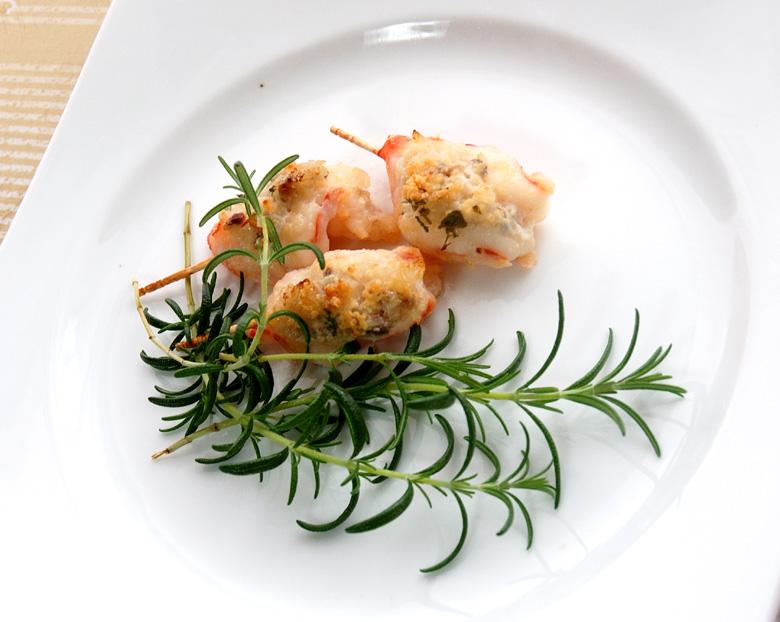 前菜 海老のマヨネーズらっきょう・アンチョビ焼き