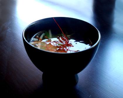 韓国風もやしと揚げにんにくのスープ
