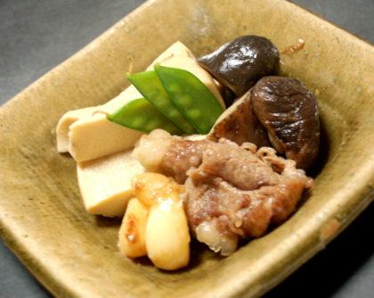 高野豆腐と牛肉の炊き合わせ