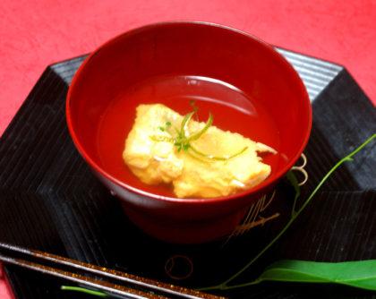 卵の黄身衣 甘鯛のお吸い物