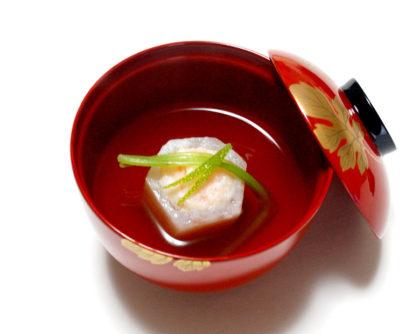 かぶ釜の海老いこみ煮 すまし汁