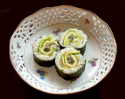 チーズ・生ハム・レタスの巻き寿司
