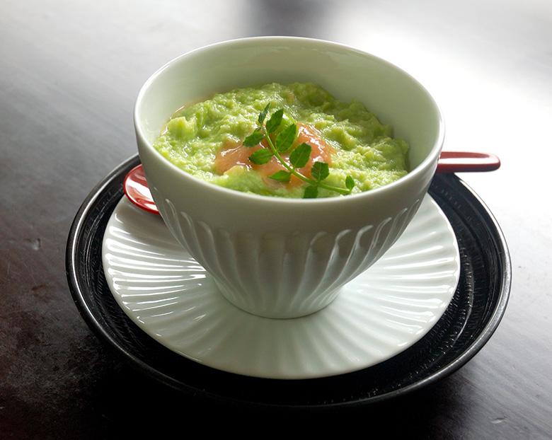 枝豆の冷製茶椀蒸し