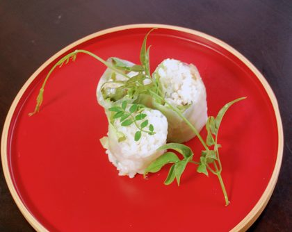 松茸寿司の生春巻き