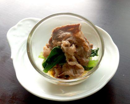牛肉と小松菜のすき焼き
