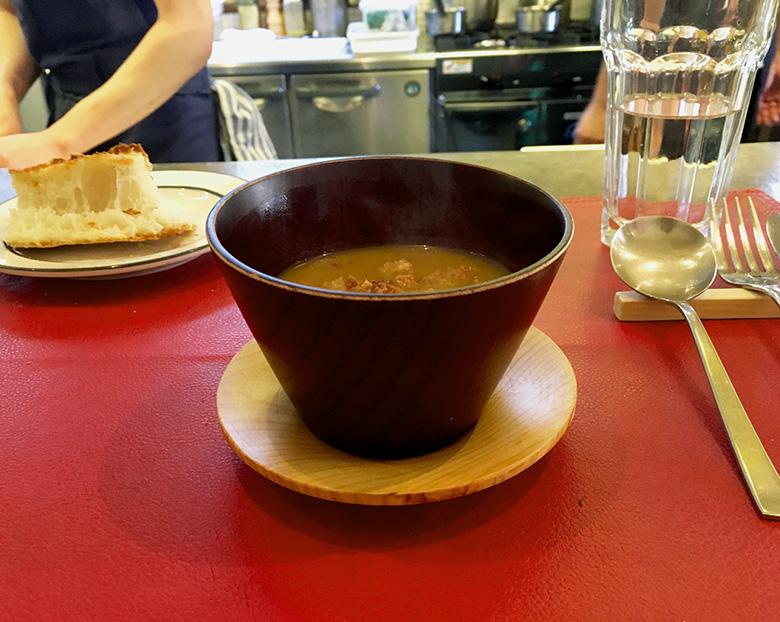 かぼちゃとサツマイモのスープ 2