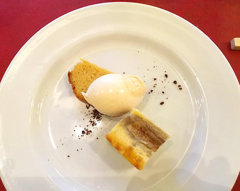 パウンドケーキ/バニラアイス