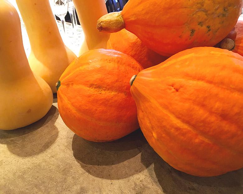 店内に飾ってある「かぼちゃ」