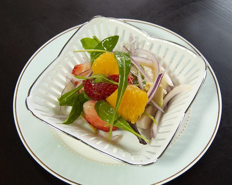 イチゴ・オレンジのフルーツサラダ