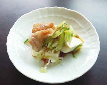 豚肉ときゅうりの豆腐サラダ