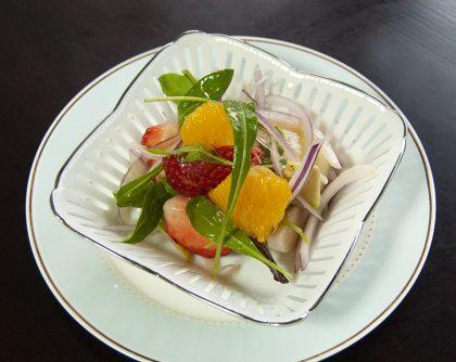 いちご・オレンジのフルーツサラダ