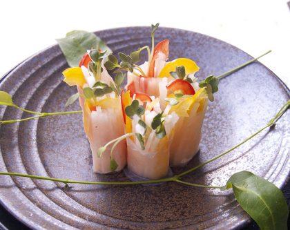野菜のカラフル春巻き