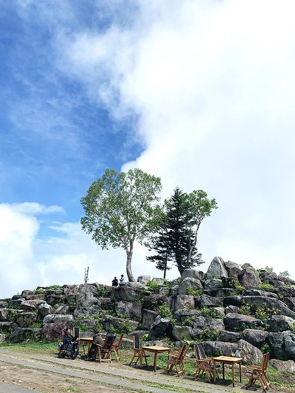 雲海テラスの頂上風景頂上