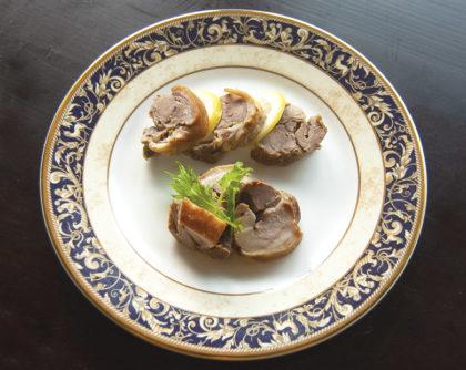 鴨肉のにんにく柚子胡椒焼き