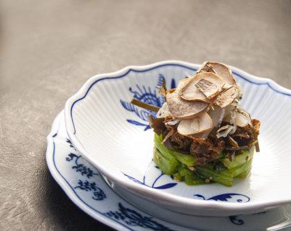 小松菜と昆布のサラダ