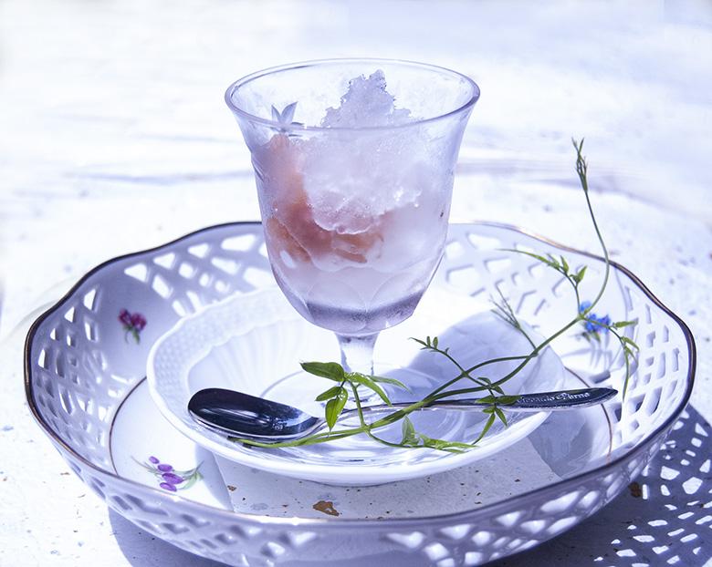 日本酒のしそ梅シャーベット