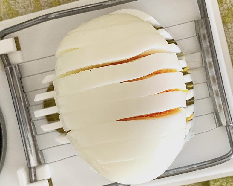 ゆで卵を作ってスライス