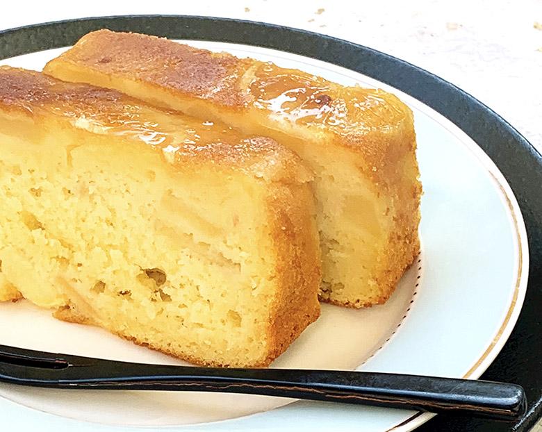 蜂蜜レモンとヨーグルト、りんごのパウンドケーキ