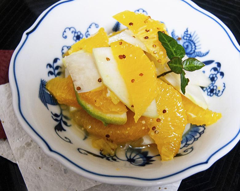コールラビとオレンジのサラダ