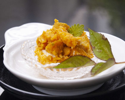 かぼちゃ・クリームチーズ・松の実のサラダ