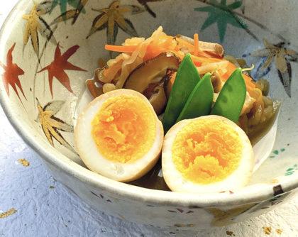 切り干し大根の煮物と煮卵