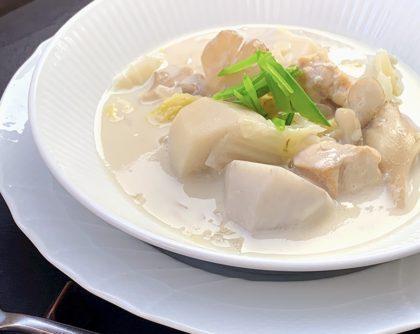 里芋と鶏肉のクリームシチュー