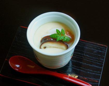 生シイタケ・かまぼこ・鶏肉の茶碗蒸し