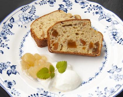 干し柿と日本酒のパウンドケーキ