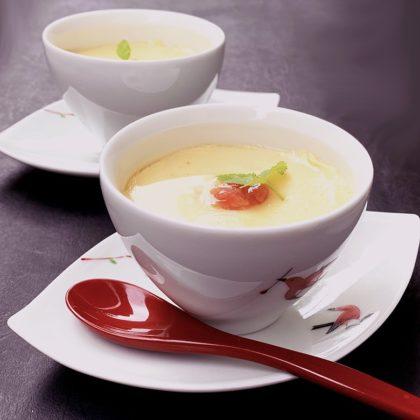 干しホタテの茶碗蒸し 梅肉かけ