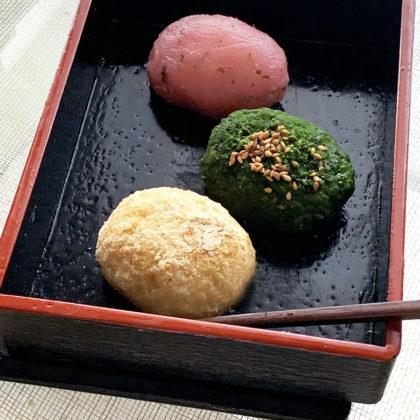おはぎ(きなこ・抹茶・桜あん)